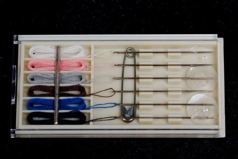 Free hotel sewing kit